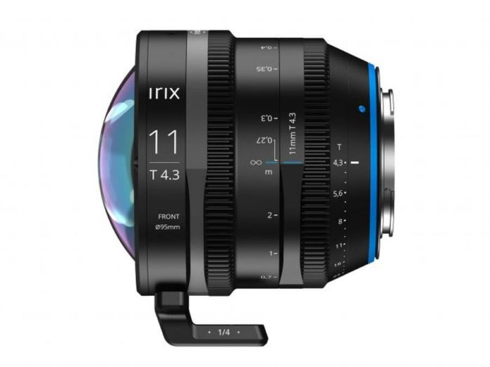 Irix Cine 11mm T4.3 Lens Announced