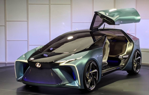 Lexus LF-30 Electrified Concept teases EV intent behind gullwings and glitz