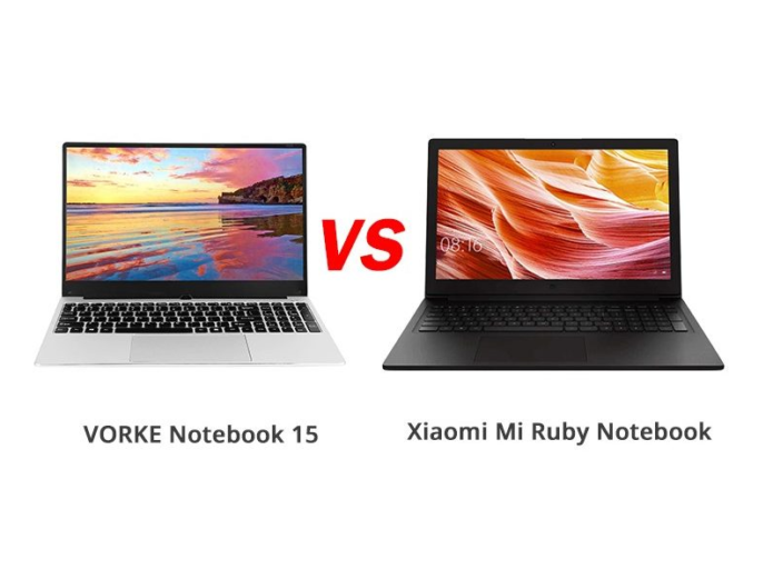 VORKE Notebook 15 vs Xiaomi Mi Ruby Notebook – What's the Difference Between?