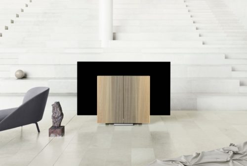 Bang and Olfsen just released its second folding TV – and it looks pretty swis