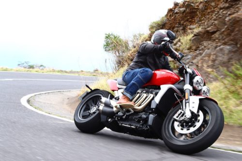 2020 TRIUMPH ROCKET 3 R & GT TEST: CANARY ISLAND CAREENING