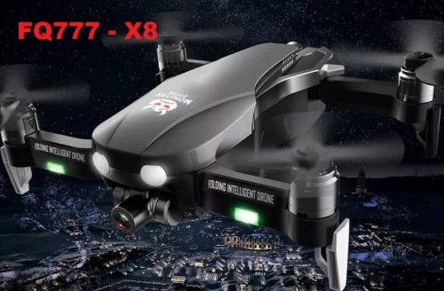 FQ777 F8 GPS Foldable RC Drone Review: A 5G WiFi FPV w/ 4K HD Camera 2-axis Gimbal Brushless drone