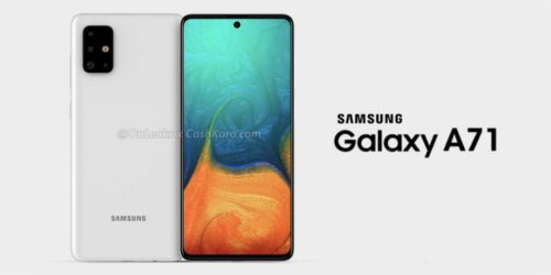 Samsung Galaxy A71: New renders reveal an atypical camera design