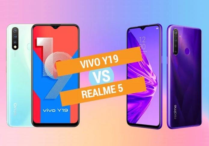 Vivo Y19 vs Realme 5 specs comparison