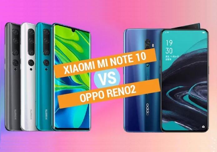 Xiaomi Mi Note 10 vs OPPO Reno2 Specs Comparison
