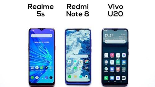 Vivo U20 vs Redmi note 8 vs Realme 5s: Specs Comparison