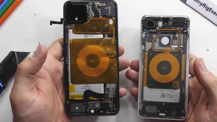 Pixel 4 XL teardown reveals a mess of parts inside