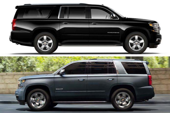 2020 Chevrolet Suburban vs 2020 Chevrolet Tahoe