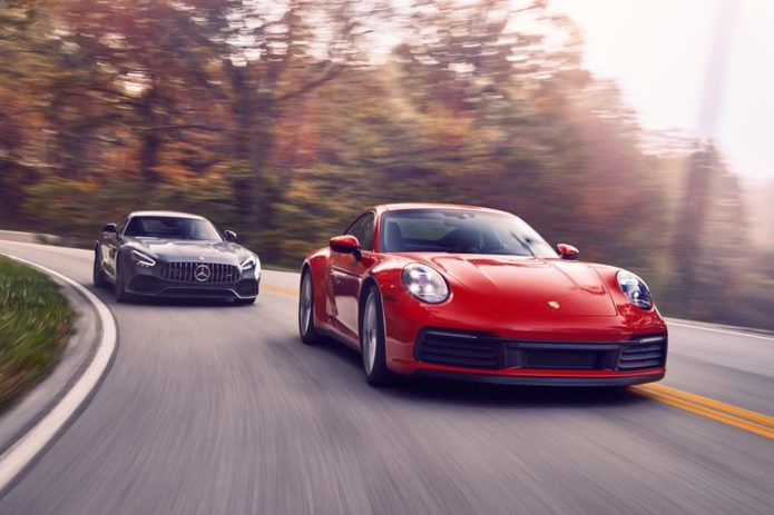 2020 Porsche 911 Carrera vs. 2020 Mercedes-AMG GT Coupe: Which Is Better for Chasing Apexes?