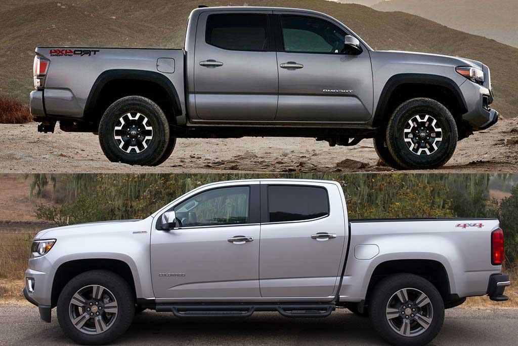 2020 Toyota Tacoma VS 2020 Chevrolet Colorado