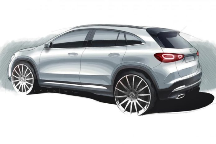 2020 Mercedes GLA previewed by official sketch