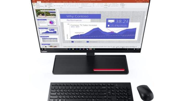 Lenovo ThinkCentre M90a AiO and Creator Extreme display lead CES 2020 desktops