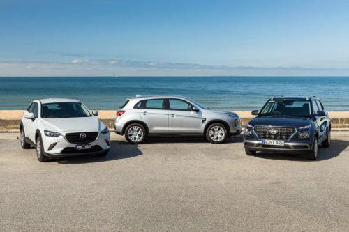 2020 Hyundai Venue Go v Mazda CX-3 Neo Sport v Mitsubishi ASX ES Comparison Test