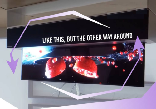 LG rollable OLED TV at CES 2020 drops in from the ceiling
