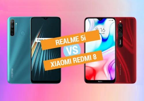 Realme 5i vs Xiaomi Redmi 8 Specs Comparison