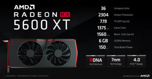 AMD RX 5600 XT debut review: 5700 of 6GB video memory is coming! The skill of Soviet-style knife is seen for the first time