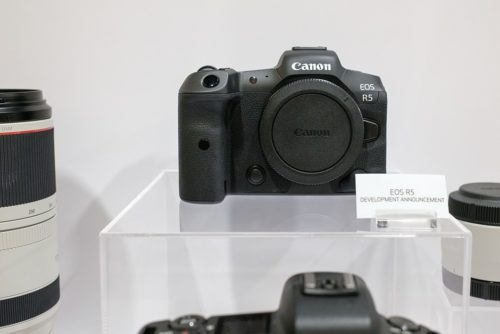 Canon shows off EOS R5, RF 100-500mm lens under glass at WPPI