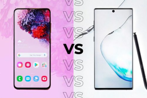 Samsung Galaxy S20 vs Samsung Galaxy Note 10