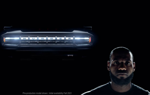 This is LeBron James' Super Bowl GMC Hummer EV ad