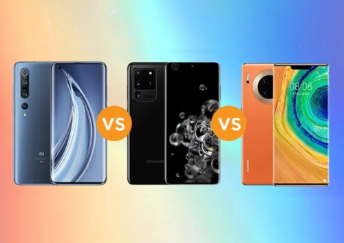 Xiaomi Mi 10 Pro vs Samsung Galaxy S20 Ultra vs Huawei Mate 30 Pro 5G Specs Comparison