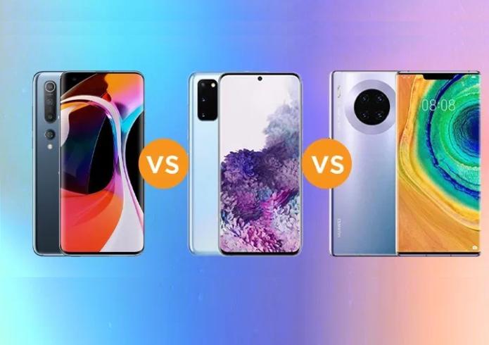 Xiaomi Mi 10 vs. Samsung Galaxy S20 vs. Huawei Mate 30 Specs Comparison
