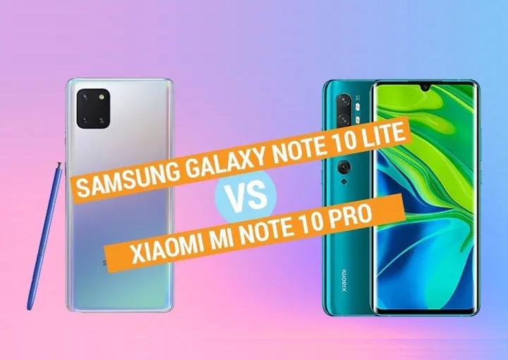 Samsung Galaxy Note 10 Lite vs Xiaomi Mi Note 10 Pro Specs Comparison