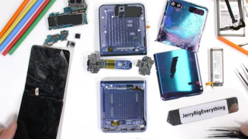 Galaxy Z Flip teardown reveals where the glass and bristles are