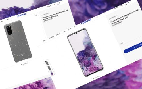 Galaxy S20 pictures leak via Samsung's own website