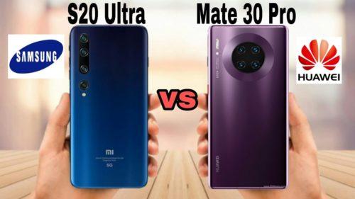 Specs Battle: Huawei Mate30 Pro vs Samsung Galaxy S20 Ultra
