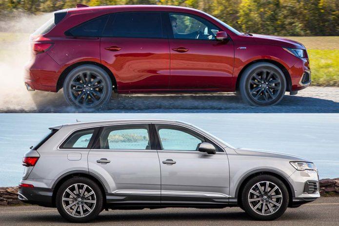 2020 Acura MDX vs. 2020 Audi Q7