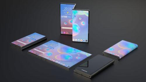 Samsung Galaxy Z Series New Concept: Triple-Fold Design, 100 MegaPixels