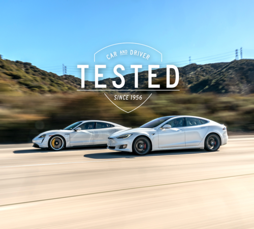 In Our Testing, the Porsche Taycan's Range Nearly Equaled That of the Tesla Model S