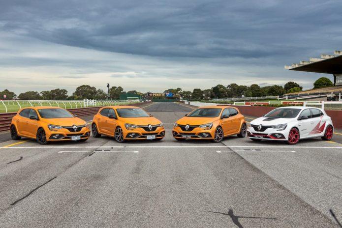 2020 Renault Megane RS Sport v Renault Megane RS Cup v Renault Megane RS Trophy v Renault Megane RS Trophy-R Comparison