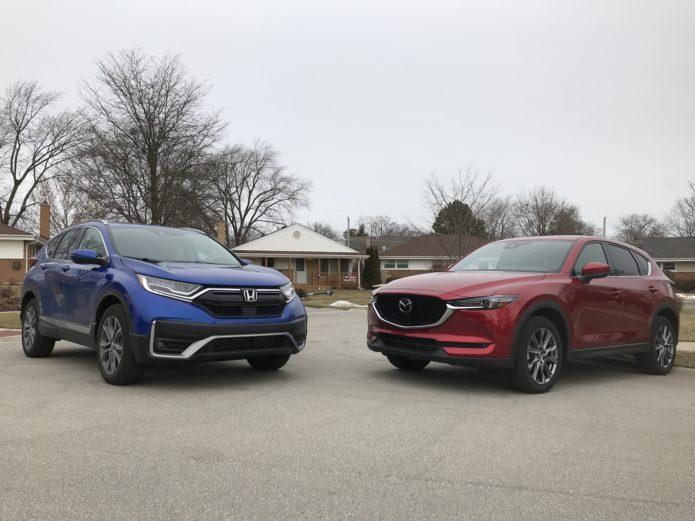 2020 Honda CR-V v Mazda CX-5 comparison