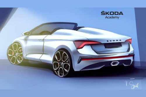 Roofless Skoda Scala roadster previewed