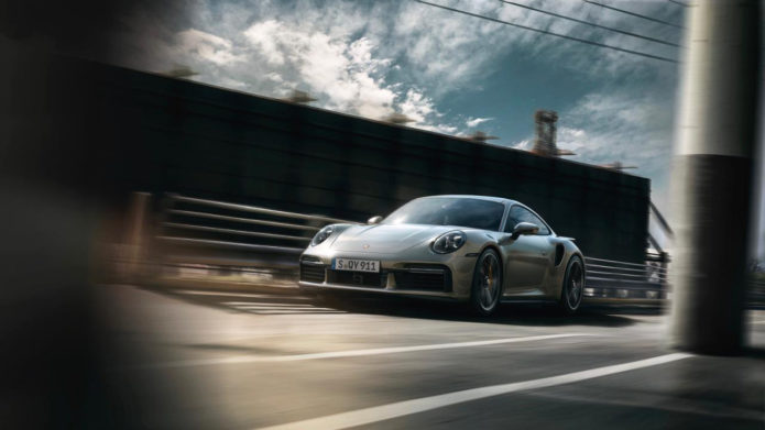 New Porsche 911 Turbo S 3.8L boxer engine makes 641hp