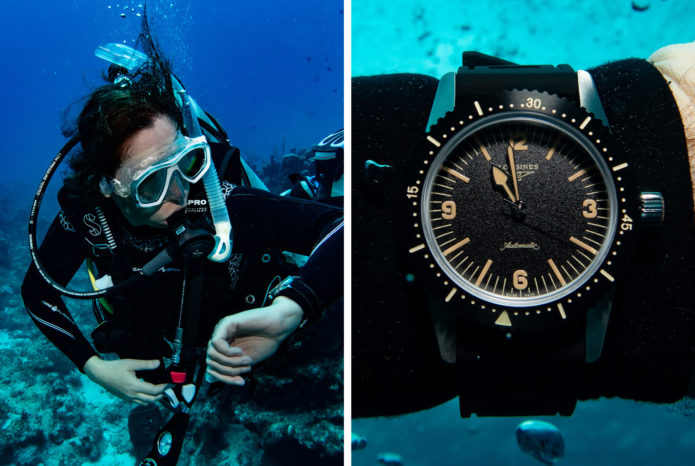 Scuba Diving in the Cayman Islands with Two Longines Dive Watches