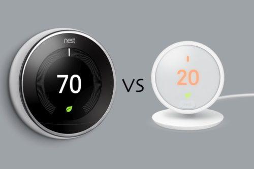 Nest Learning Thermostat vs Nest Thermostat E