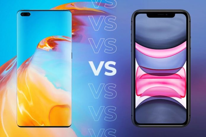 Huawei P40 vs iPhone 11