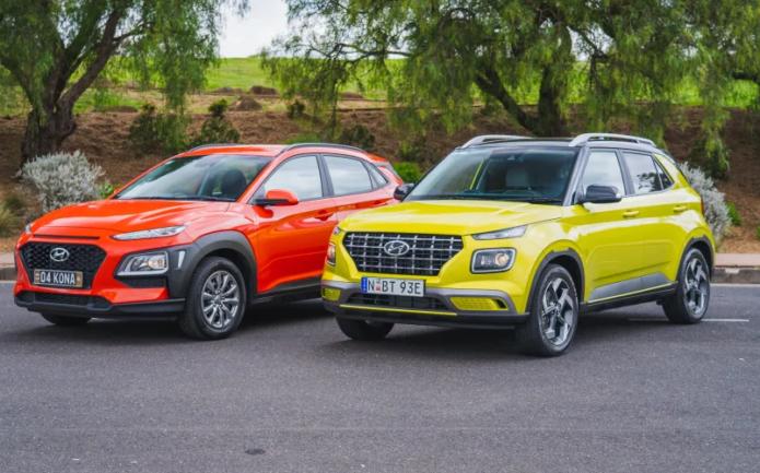 2020 Hyundai Venue Elite auto v Hyundai Kona Go FWD comparison