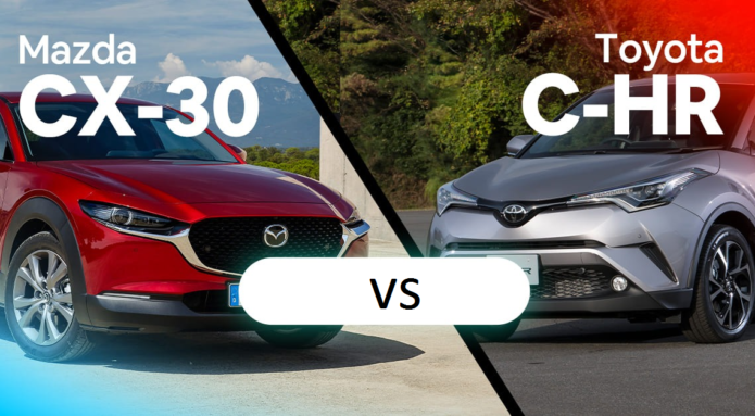 2020 Mazda CX-30 v Toyota C-HR comparison