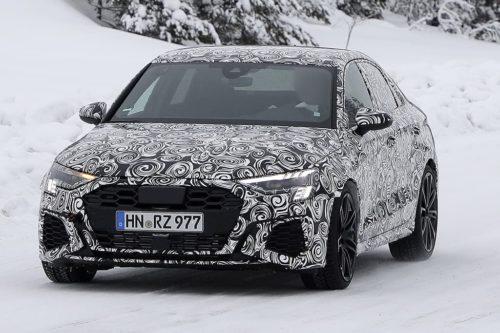 SPY PICS: New Audi RS 3 sedan takes shape