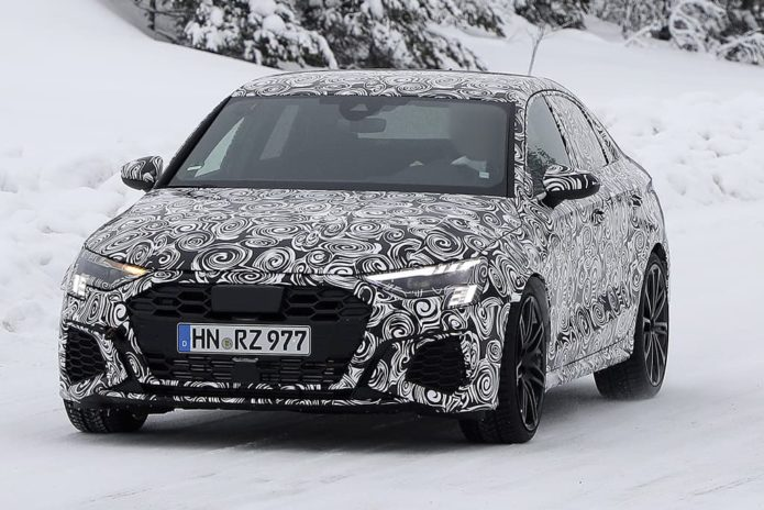 SPY PICS: New Audi RS 3 sedan takes shape