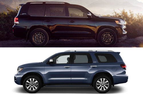 2020 Toyota Land Cruiser vs. 2020 Toyota Sequoia: What's the Difference?