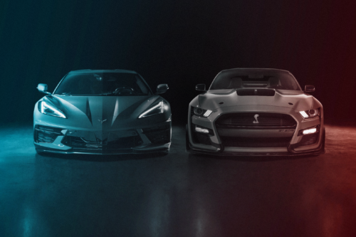 2020 Chevrolet Corvette vs. 2020 Ford Mustang Shelby GT500 at the Drag Strip