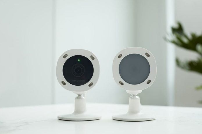 The Kangaroo Privacy Camera has a lens that turns opaque when you're home