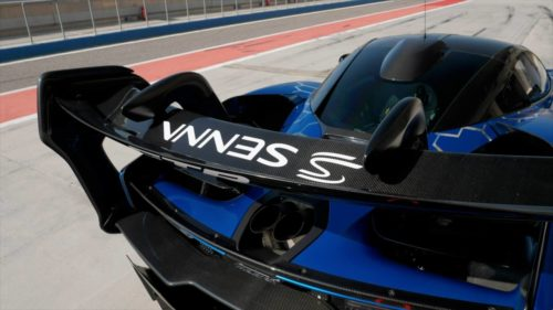The McLaren Senna GTR's massive rear wing serves a valid purpose