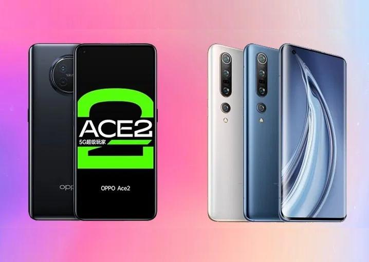 OPPO Ace2 vs Xiaomi Mi 10 Pro 5G specs comparison