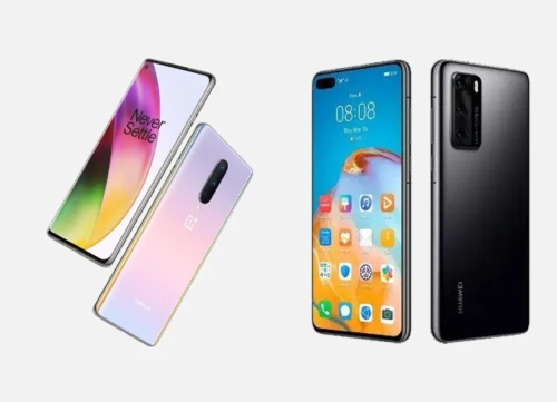 OnePlus 8 vs Huawei P40 specs comparison