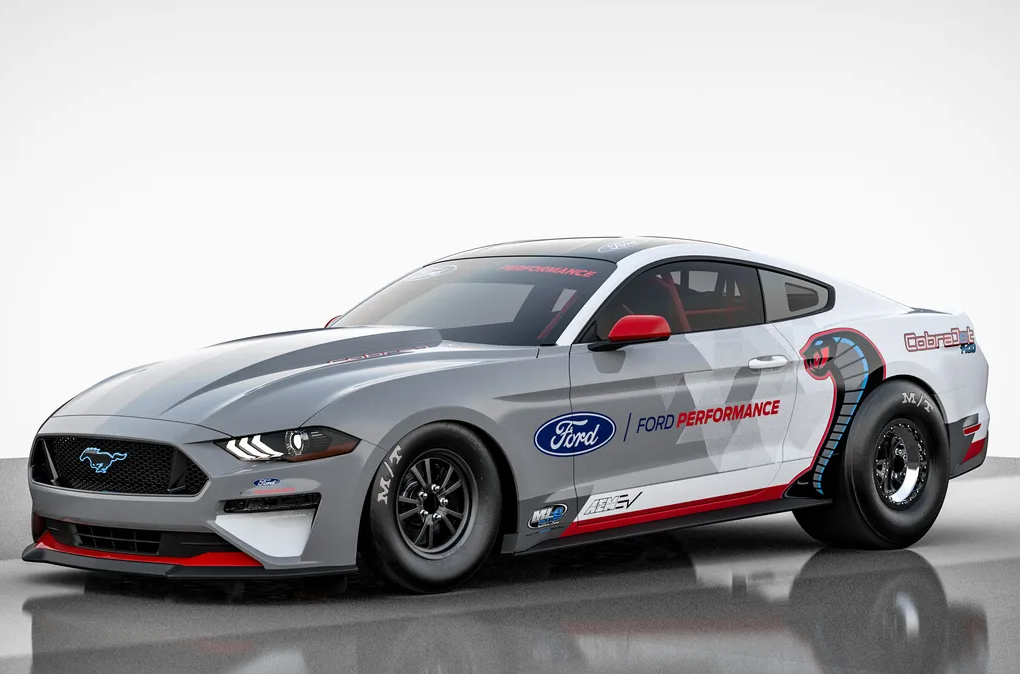 Ford Reveals Mustang Cobra Jet 1400 Electric Dragster